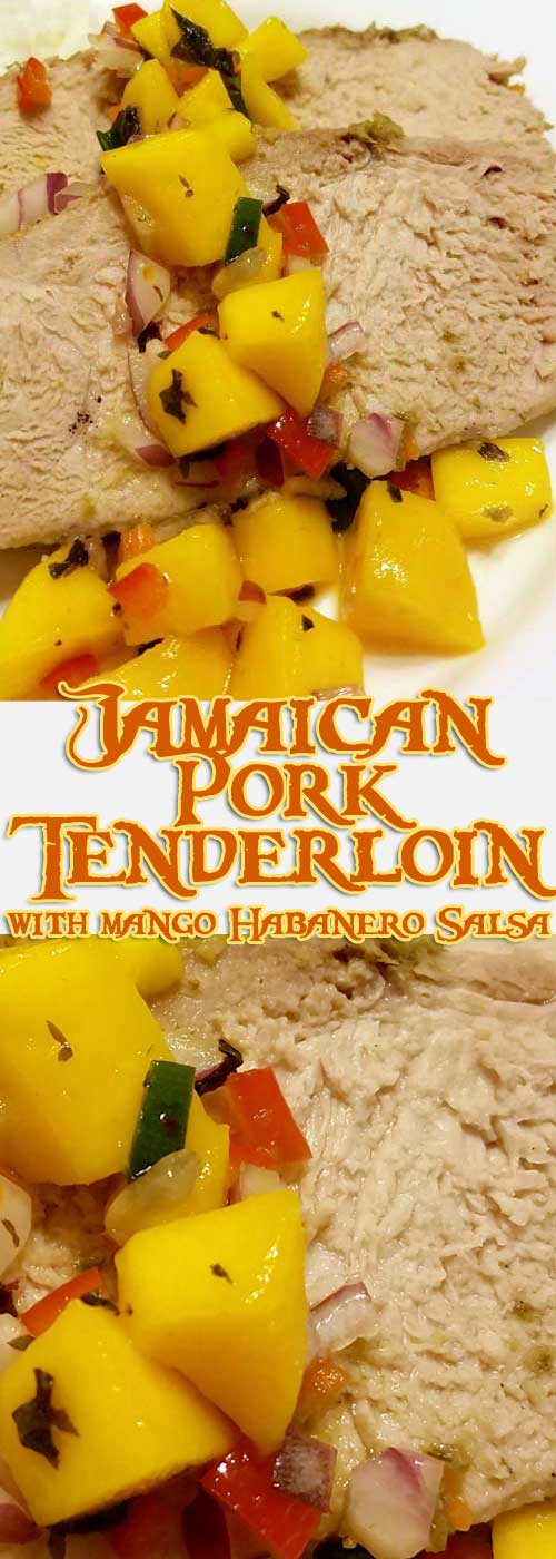 This recipe for Jamaican Pork Tenderloin with Mango Habanero Salsa will knock your socks off with it's Caribbean blend of spicy peppers and tropical sweetness.