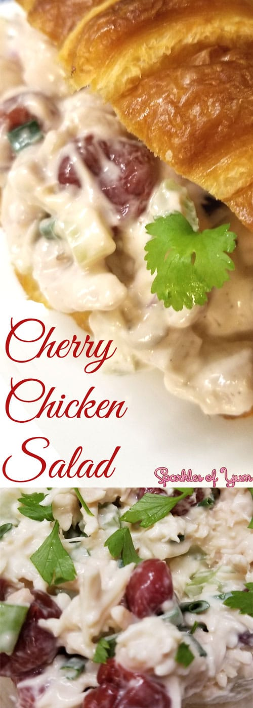 ThisCherry Chicken Salad is delicious, easy to make, and perfect for those days when it is just too hot or busy to be bothered with using the stove.
