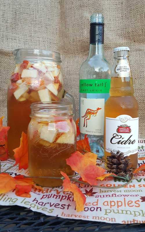 Crisp fall flavors compliment each other in this Autumn Hard Apple Cider Sangria. If your planning a fall party thiswould be an easy and tasty crowd pleaser.