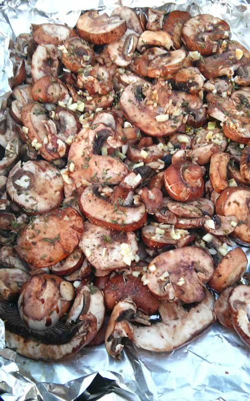These Healthy Grilled Mushrooms are so easy to make, and they are beyond tasty. Good luck getting them to the table, they just might disappear before making it that far!