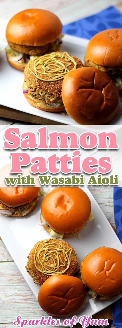 Salmon Patties with Wasabi Aioli