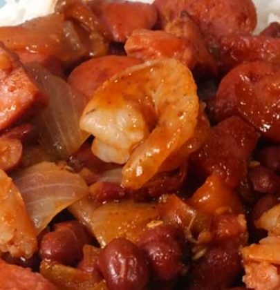 Jambalaya with Shrimp, Sausage & Ham