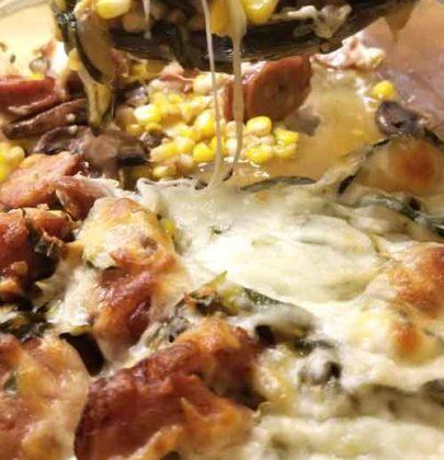 Sweet Corn, Zucchini, & Sausage Casserole