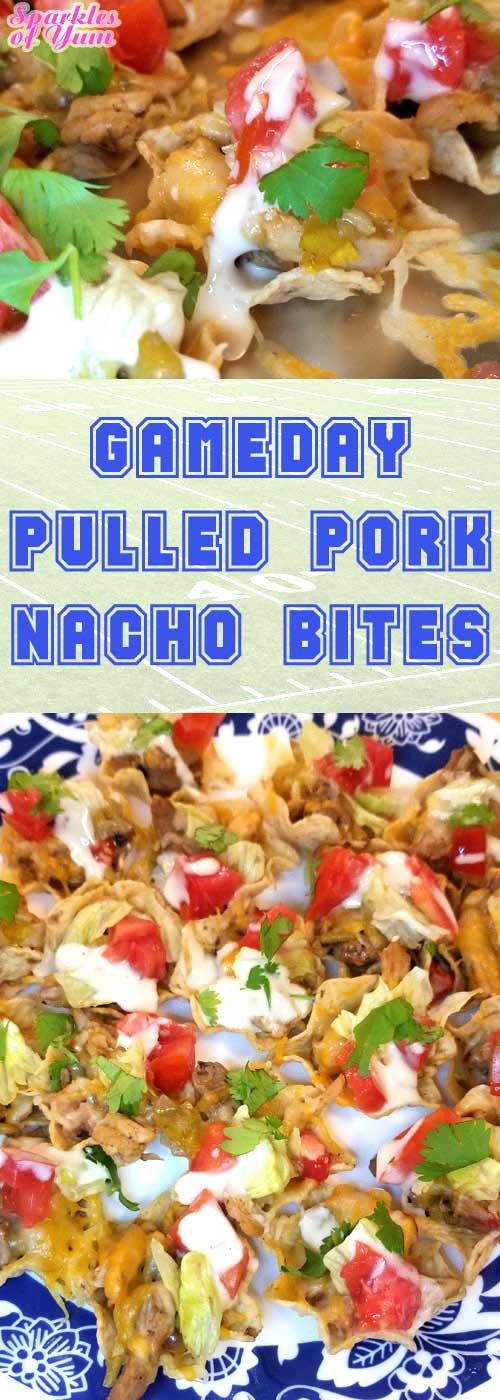 Pulled Pork Nacho Bites