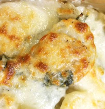 Spinach and Artichoke Scalloped Potatoes
