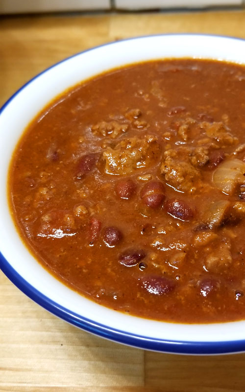 """We are pretty passionate about our Chili around here, and this my friends is my contribution to the Chili world; enter my """"Chili Lovers Chili""""! It will warm your bones on a cold day, it's rich, meaty, a little bit spicy, and oh so delicious!"""