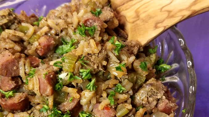 Cajun Dirty Rice - All the flavors in this Cajun Dirty Rice may just make you believe that you are sitting in one of the finest restaurants on the bayou, without having to worry about all the gators.