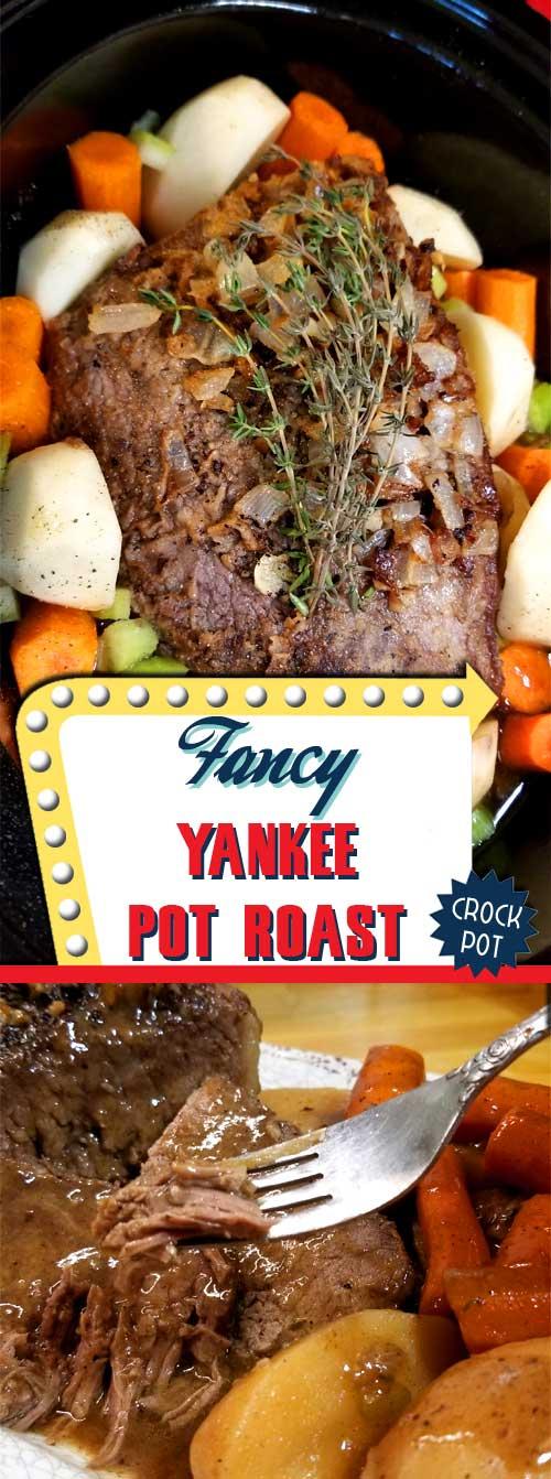 Fancy Yankee Pot Roast - Crock Pot
