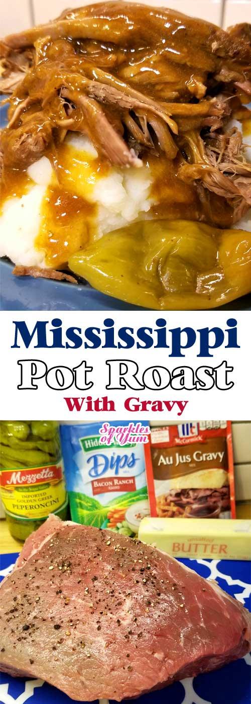 Mississippi Pot Roast with Gravy