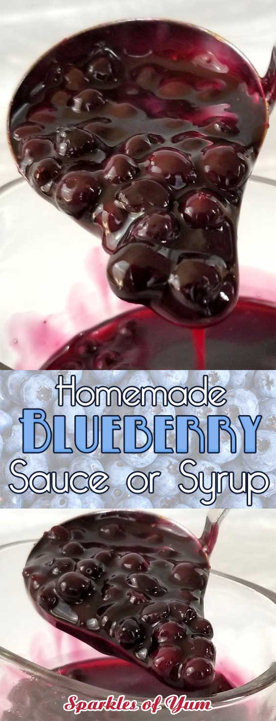 Homemade Blueberry Sauce or Syrup
