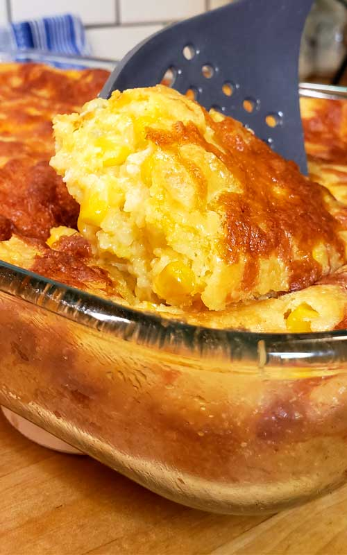 Sweet Creamed Corn Casserole is buttery, cheesy, Cornbread goodness that's easy to make and hard to stop eating! It is so good and with such simple ingredients, everyone loves this dish.