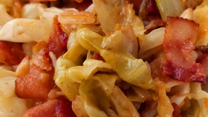 If your a lover of bacon and you like cabbage, you will fall in love with the quick and easy Southern Fried Cabbage! It's not deep fried, it's really more of a saute, but the flavors you get are a natural sweetness that comes together with this simple dish. You'll wish you tried it sooner.