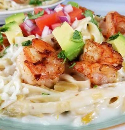 Creamy Mexican Shrimp Pasta