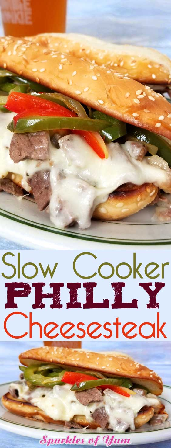 Slow Cooker Philly Cheesesteak