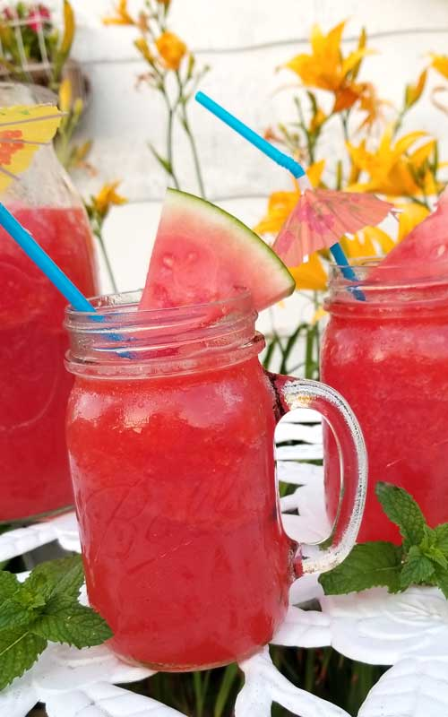 I'm pretty sure we'll be making a lot more of these frosty Watermelon Breeze Frosés this summer, it's the most refreshing icy cold drink for a hot summer day.