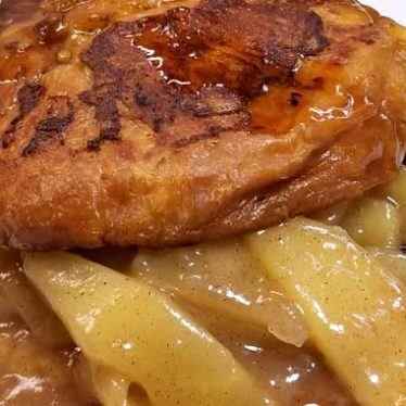 Apple Pie Croissant French Toast