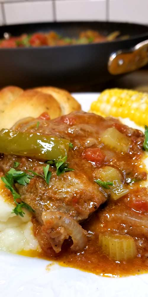 "Swiss Steak is so tender and delicious, it comes together quick and is classic comfort food loved by all. However: Swiss Steak does not stem from Switzerland, as the name suggests, but from the technique of tenderizing by pounding or rolling, called ""swissing""."