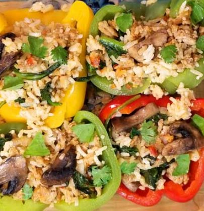 Thai Curry Stuffed Peppers