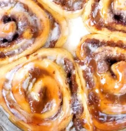Easy Pumpkin Butter Cinnamon Rolls