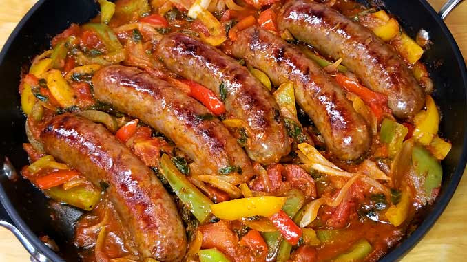 Quick, easy and delicious one skillet dinner! This recipe for Italian Sausage Peppers and Onions is so versatile. You can have it over mashed potatoes, pasta, polenta, cauliflower rice, or as an Italian sub sandwich.
