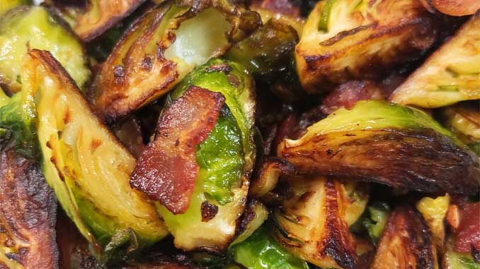 These Crispy Skillet Brussel Sprouts with Bacon & Garlic Butter are the absolute best Brussels sprout recipe! This is now one of my go-to recipes, easy to make and very delicious.