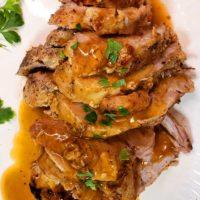 Pork Roast with Brown Sugar Apple Dijon Glaze