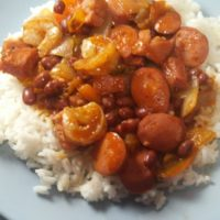 Jambalaya with Shrimp, Sausage & Ham