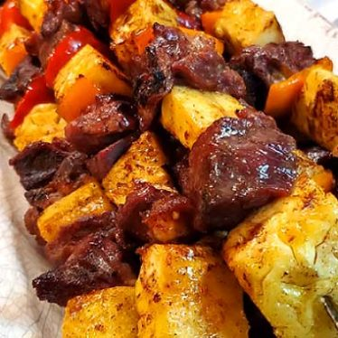 Brazilian Beef Kabobs with Pineapple and Peppers