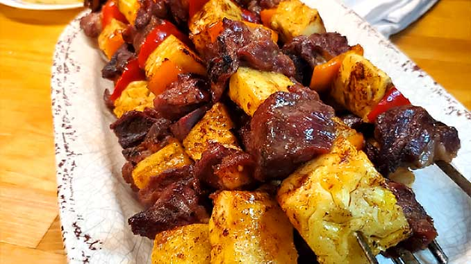 The grilled caramelized pineapple takes this dish over the top. These Brazilian Beef Kabobs with Pineapple and Peppers are very easy and so delish! Marinaded, smoky, and full of flavor goodness. Treat yourself this summer.