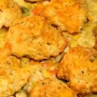Cheddar Bay Biscuit Chicken Pot Pie