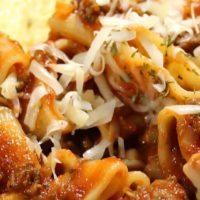 Italian Pasta and Marinara Meat Sauce