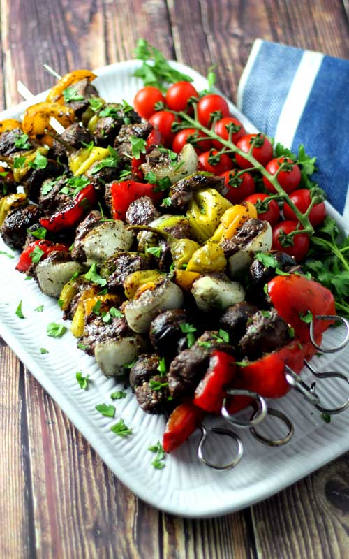 Looking to make something that is beyond flavorful, juicy, and tender? These Italian Steak Kabobs with Roasted Garlic Basting Sauce is the recipe you need!